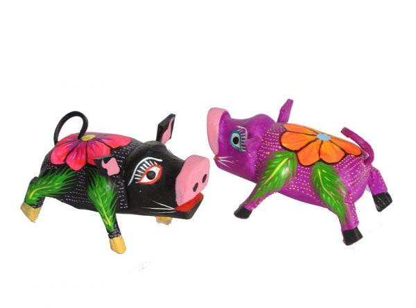 MINI CARVINGS - Pair of Pigs, 2 1/2-inch