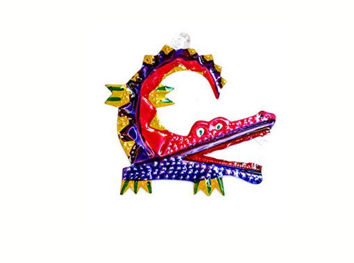Alligator, tin ornament