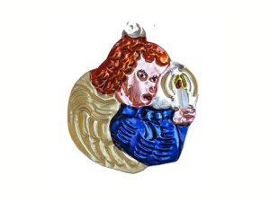 Angel with Candle, tin ornament