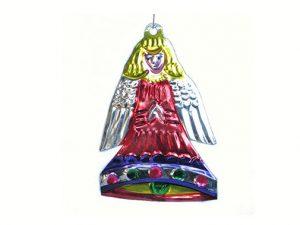 Angel-Bell, tin ornament