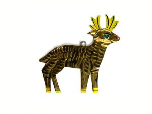 Reindeer, Mexican tin ornament