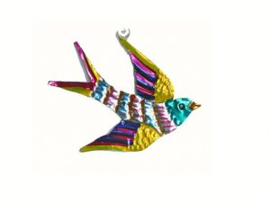 Golondrina, (swallow), Mexican tin ornament