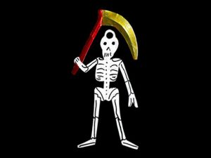 Grim Reaper, tin figure