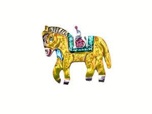 Pony (yellow), Mexican tin ornament