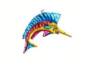 Fish, Marlin, tin ornament