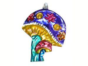 Mushroom, Mexican tin ornament