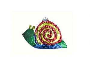 Snail, Mexican tin ornament