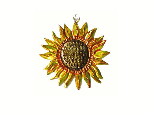 Sunflower, Mexican tin ornament