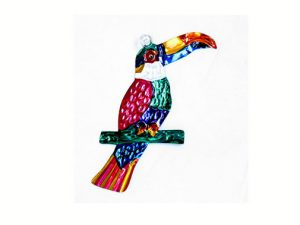 Toucan, Mexican tin ornament