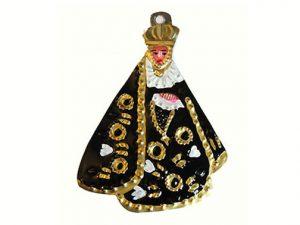 Virgin of Soledad, tin figure