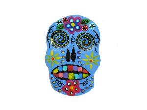 TIN MAGNET - Ape Skull, blue