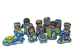 Huicholes Art Nativity Set, 11-piece