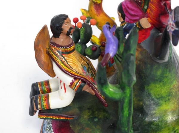 Lady of Guadalupe, Mexican Pottery Sculpture