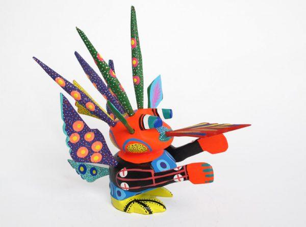 Mini Alebrije, Oaxacan Carving by Carmelo S., 2.5 inch tall