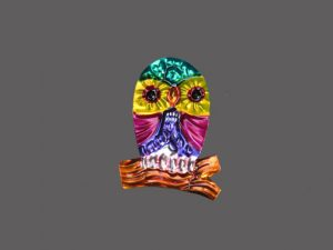 TIN MAGNET - Owl