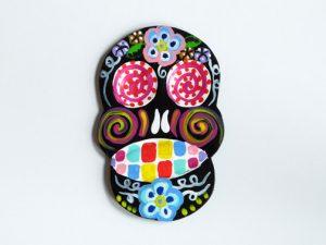 TIN MAGNET - Ape Skull, black