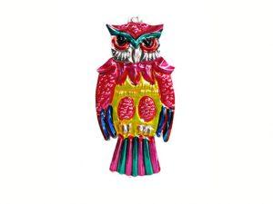 Owl, Mexican tin ornament