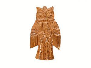 Owl, pure copper, flat ornament