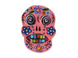 TIN MAGNET - Ape Skull, pink