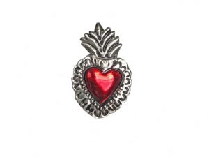 TIN MAGNET - Sacred Heart with Flame, #3