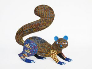 Otter, Oaxacan Wood Carving, by Mario Castellanos, 7-inch long