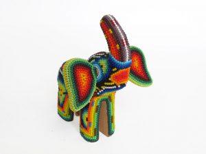 Elephant, Huichol art figurine