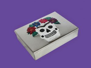 A Day of Dead Collection, 10 handmade tin ornaments in box