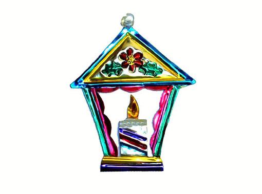 Lantern, Mexican tin Christmas ornament