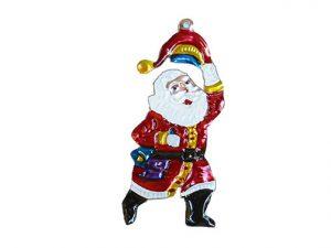 Santa Claus, tin Christmas ornament