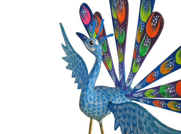 Peacock, 8-inch tall, by Tribus Mixes