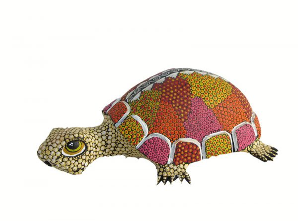 Turtle, Oaxaca Alebrije, tan, 8-inch long