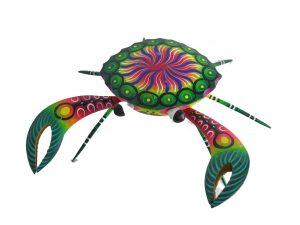 Crab, Oaxacan Wood Carving by Blas Alebrijes, 7-inch