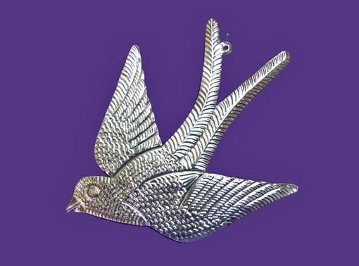 Bird, Golondrina tin wall plaque, 10-inch