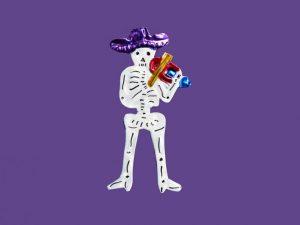 TIN MAGNET - Skeleton Man