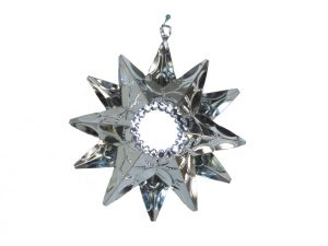 Tin Star Ornament with Mirrors, 5.5-inch w/12 points