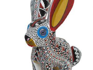 Rabbit, white with mustard-yellow ears
