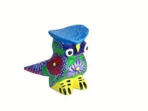 MINI CARVING - Owl Alebrije, Stocking Stuffer, multi-colors