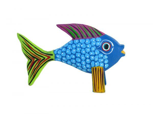 MINI CARVING - Tropical Fish Alebrije, Stocking Stuffer, 2.5-inch