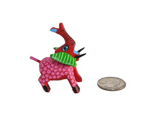 MINI CARVING Stocking Stuffer - Elephant Alebrije, multi-colors