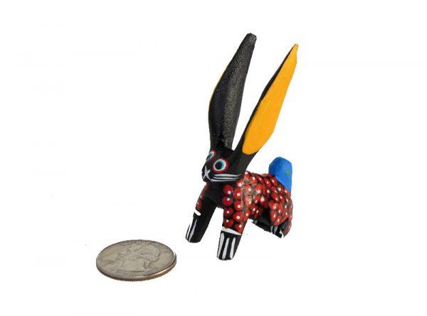 MINI CARVING Stocking Stuffer - Rabbit alebrije, 2.5-inch tall