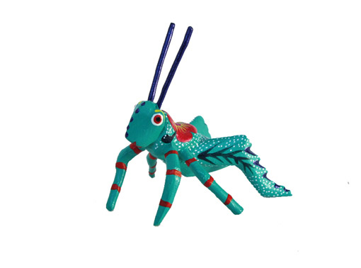 MINI CARVING Stocking Stuffer - Grasshopper Alebrije, 2.5-inch