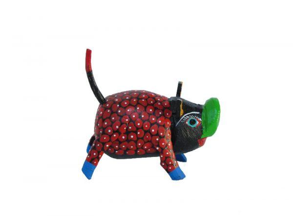 MINI CARVING - Pig Alebrije, Stocking Stuffer, multi-colors