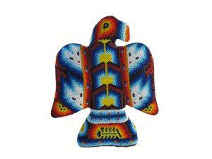 Eagle, Huichol art figurine, 6-inch tall