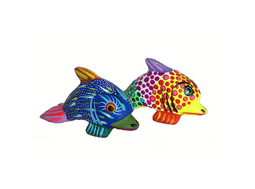 MINI DOLPHIN CARVINGS - Set of TWO