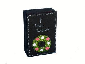 Skeleton Bride & Groom Inside Lidded Coffin
