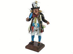 Neapolitan Pazzariello, town crier, terra-cotta presepio figurine