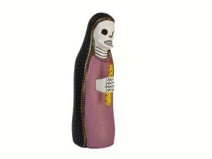Skeleton Nun, Oaxacan wood carving