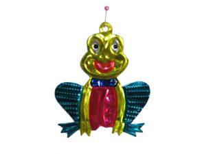 Frog Sitting, tin ornament