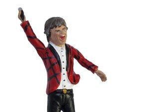 Mick Jagger, terra cotta figurine by Di Virgilio