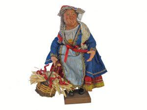 """Neapolitan Terracotta Market Lady """"Venditrice di Aglio"""""""